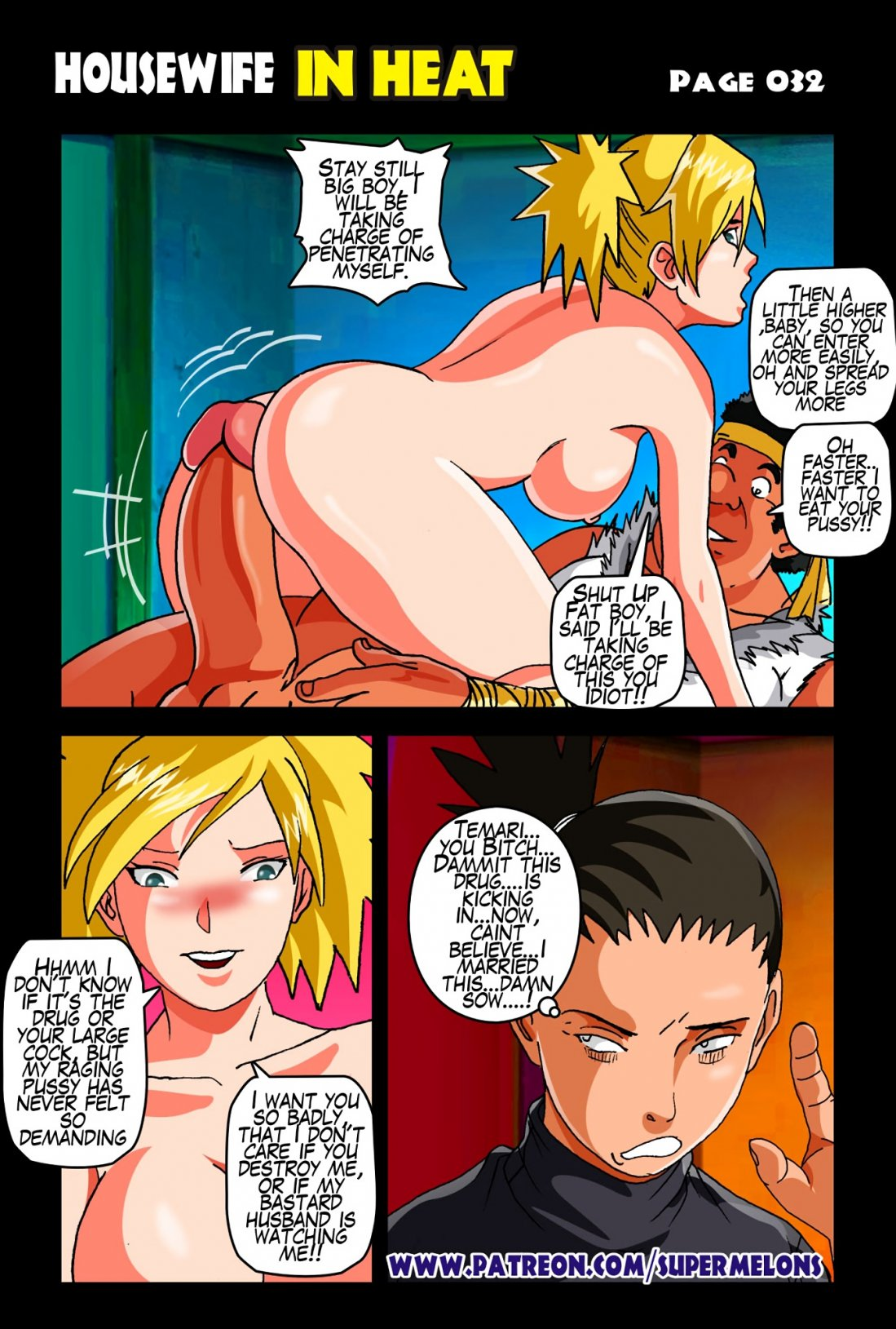 Porn comic Housewife In Heat - Temari from category naruto with tags Stockings, netorare, drugs, dilf, dark skin, cheating, big penis, big breasts, bbm