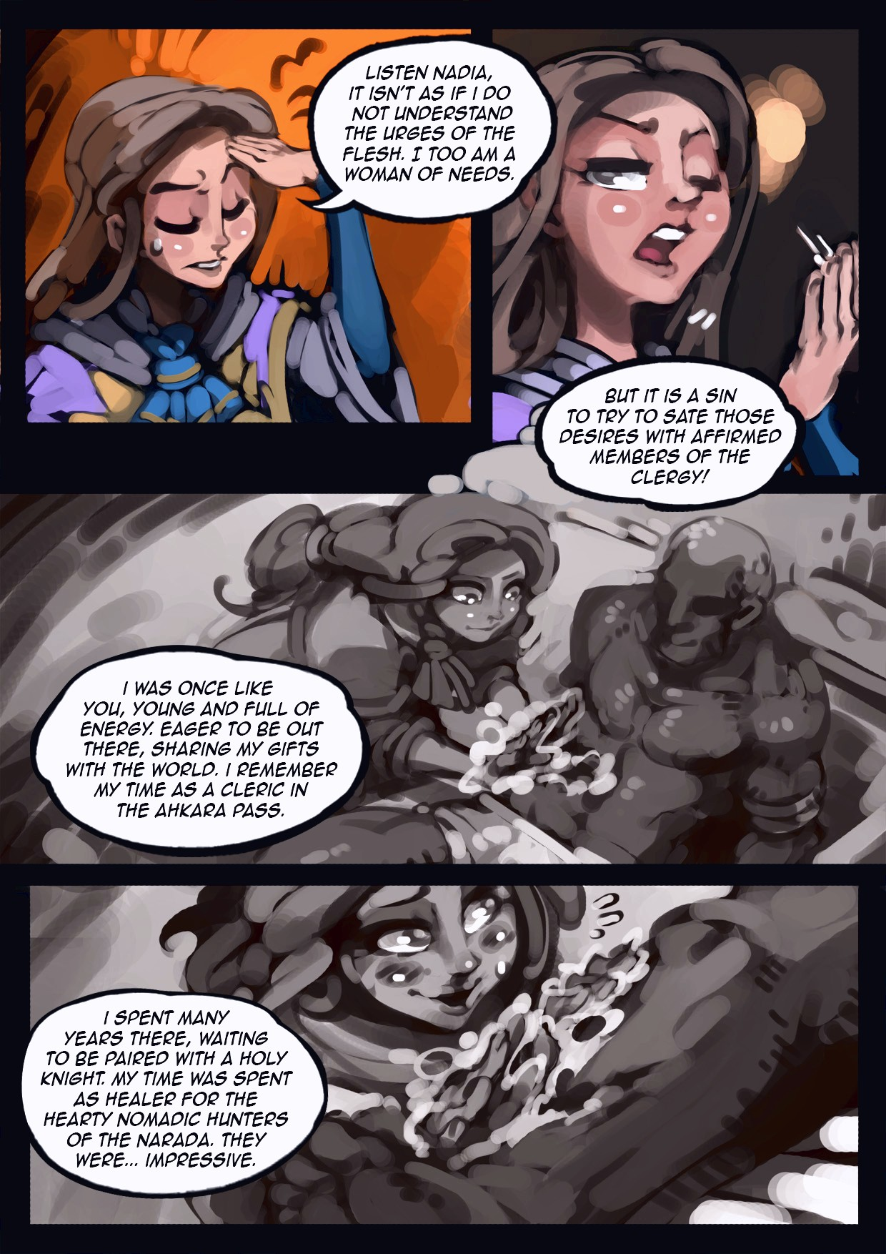 Holy Knight Nadia porn comic page 014