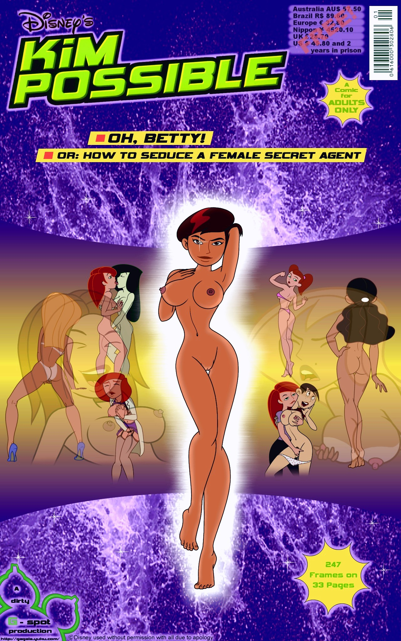 Oh, Betty! Or How to Seduce a Female Secret Agent porn comic page 001 on category Kim Possible
