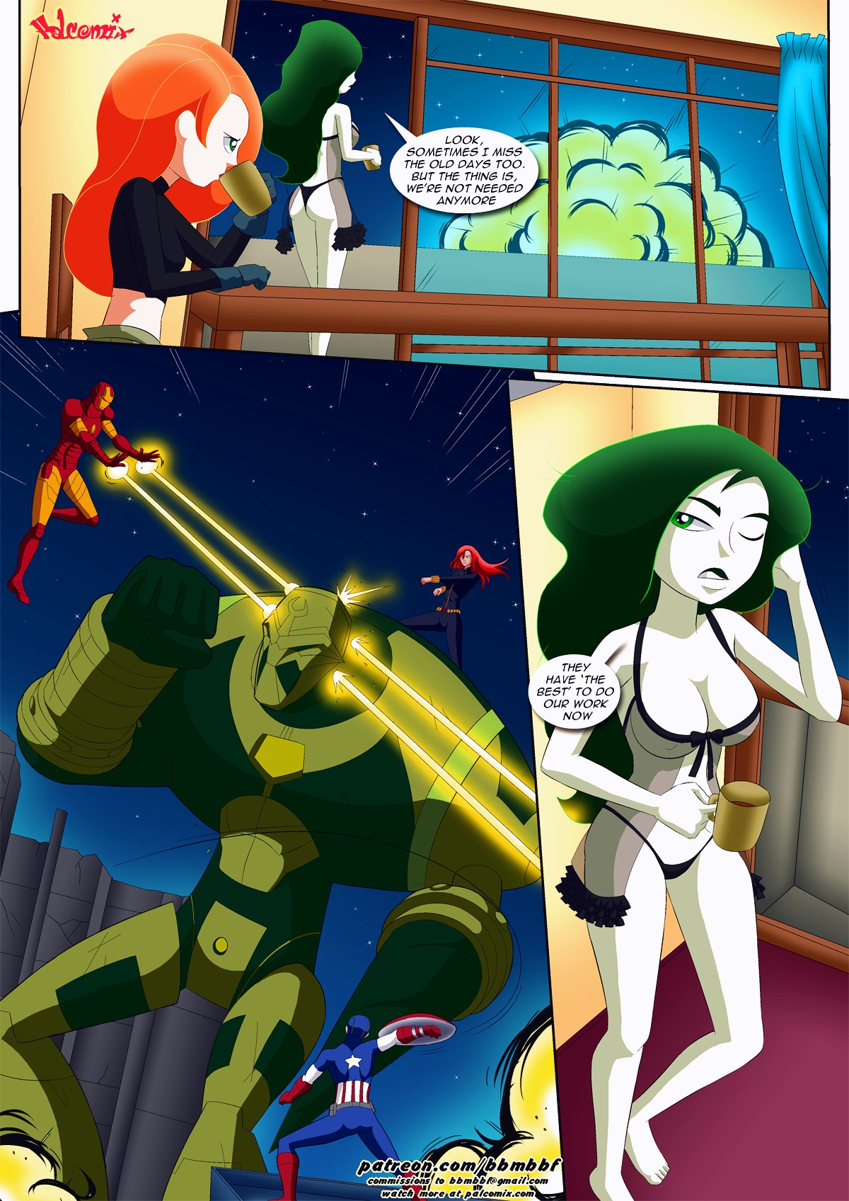 Shego's pet porn comic page 005
