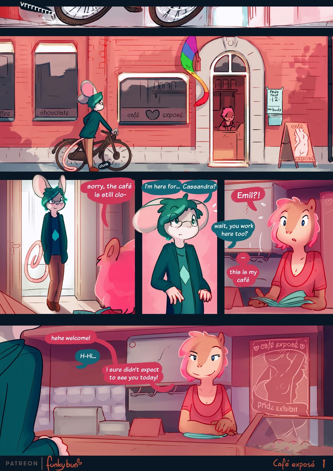 Café exposé furry porn comic page 01