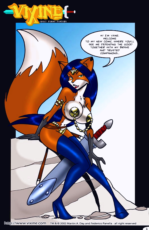 Vixine furry porn comic page 01