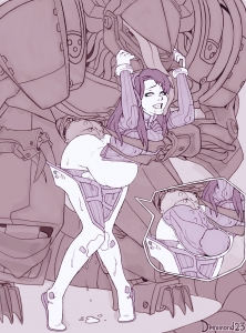 D.Va x mecha Dehaka porn comic page 01 on category Overwatch and Starcraft