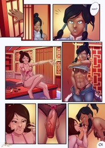 Korra x Jinora porn comic page 01 on category The Legend of Korra