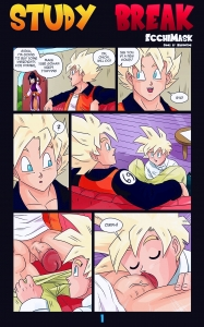 Study Break porn comic page 01 on category Dragon Ball Z