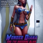 Wonder Diana and the Breeder 3D porn comic page 01
