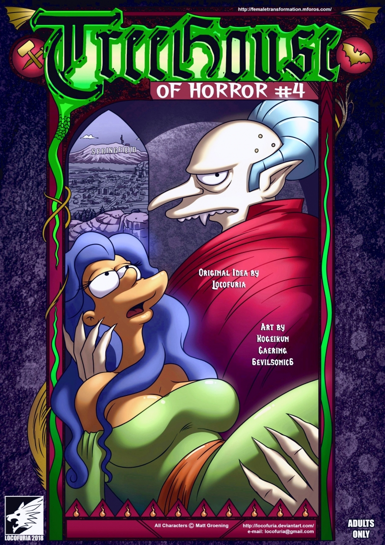 4Los Simpson Porno treehouse of horror 4 porn comic - the best cartoon porn