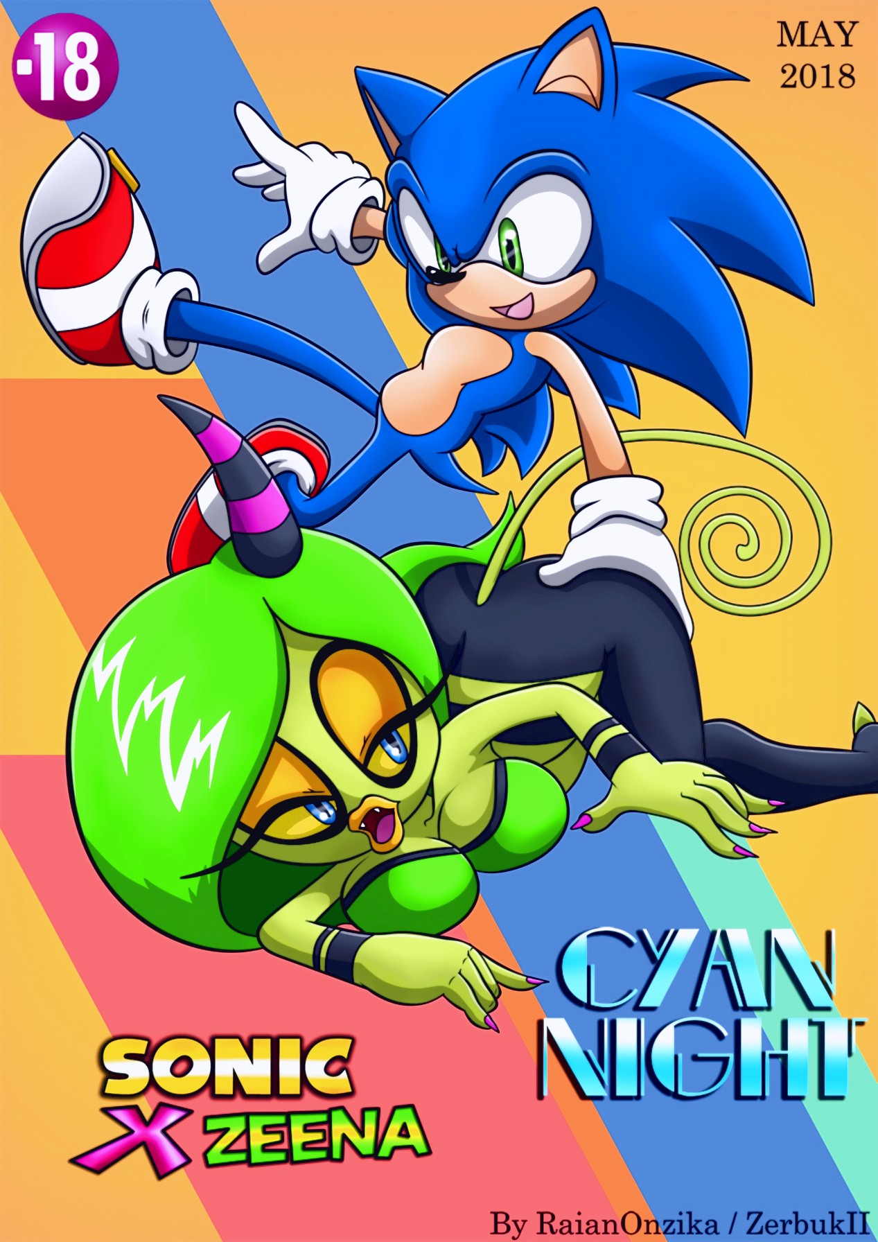 Cyan Night porn comic page 01 on category Sonic The Hedgehog