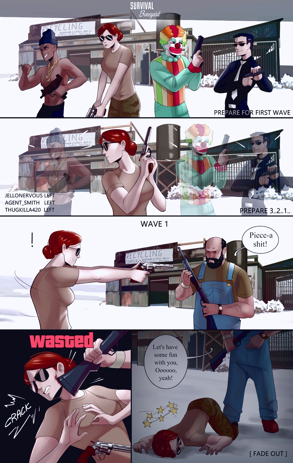 First Wave porn comic page 01 on category Grand Theft Auto
