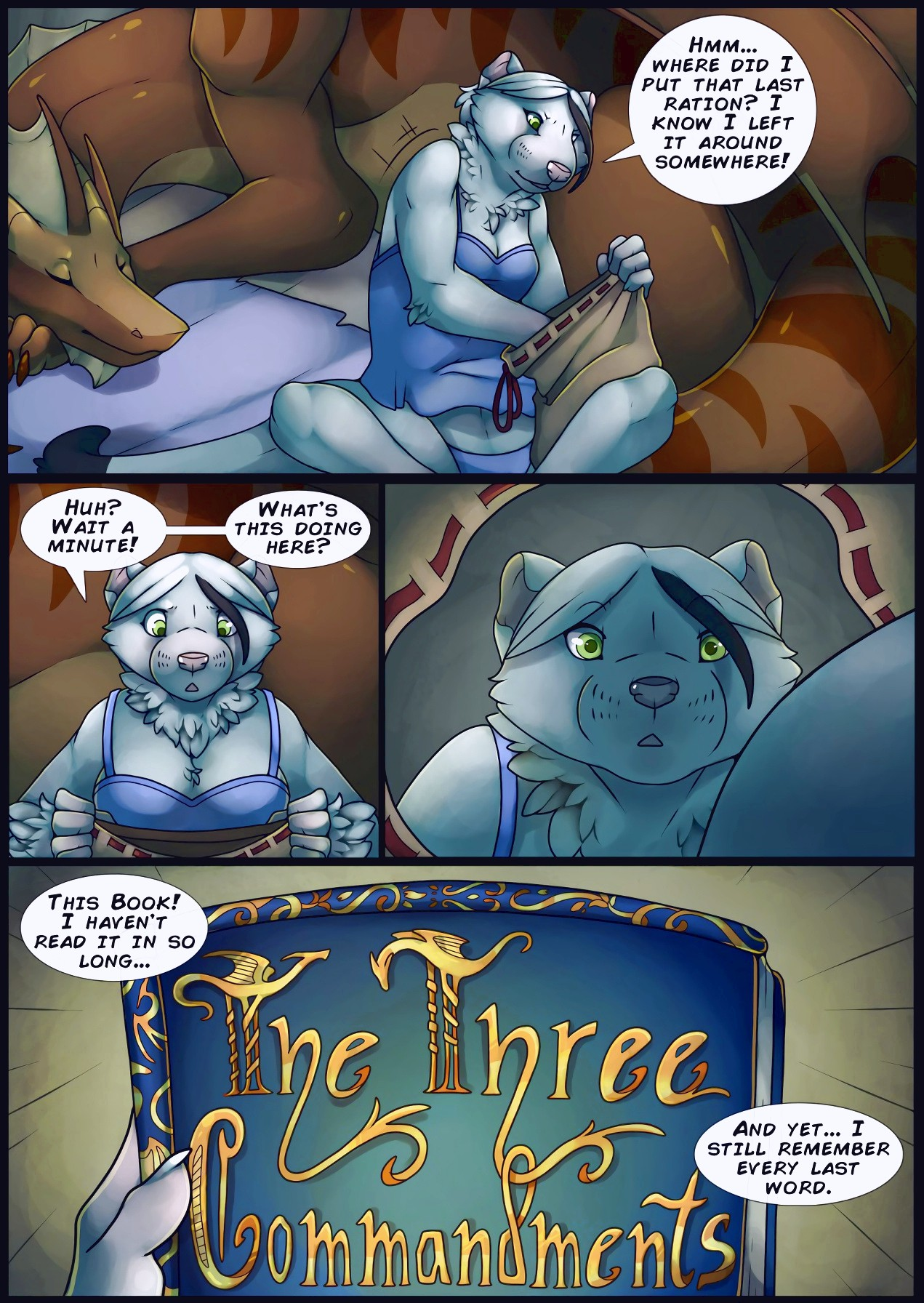 The Three Commandments furry porn comic page 01