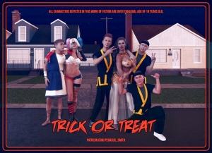 Trick or Treat 3D porn comic page 001