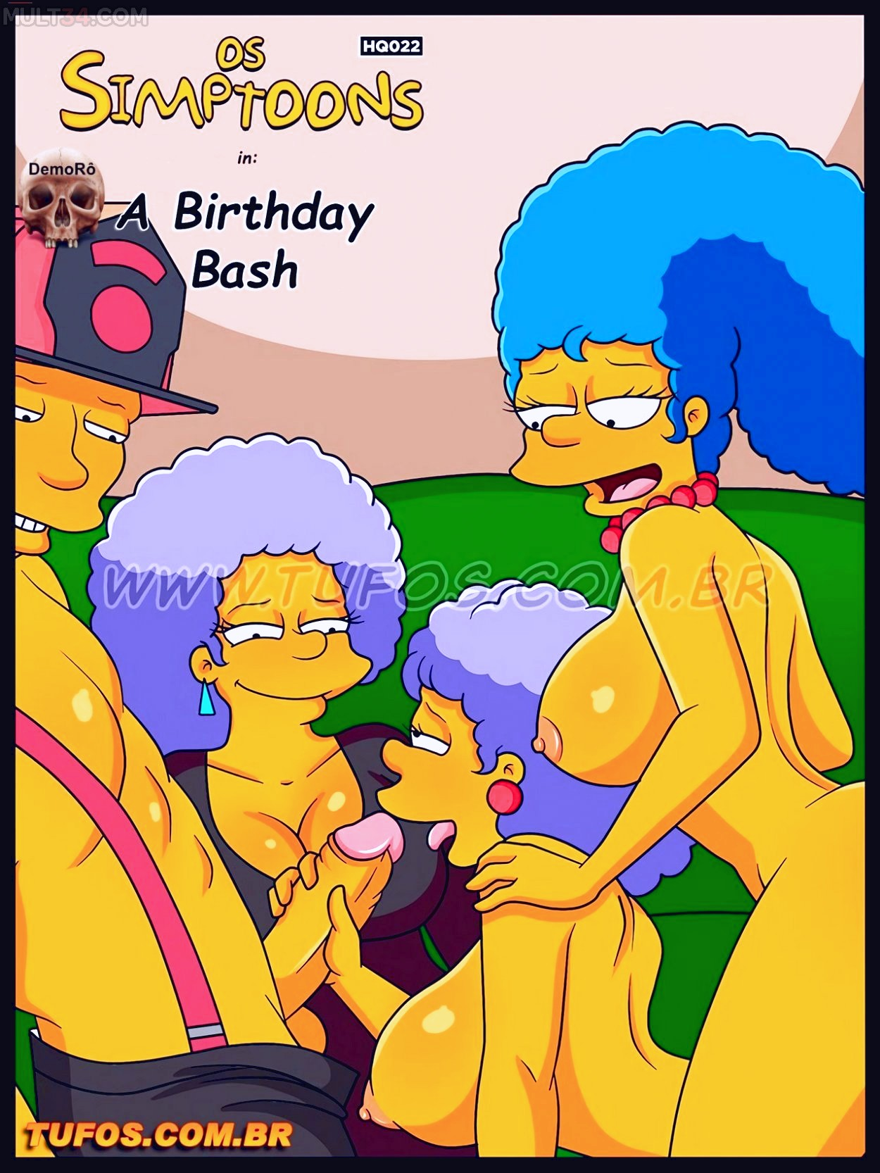 The Birthday Bash porn comic page 01 on category The Simpsons