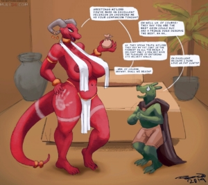 Meeting with the Argonian Whore porn comic page 1 on category The Elder Scrolls
