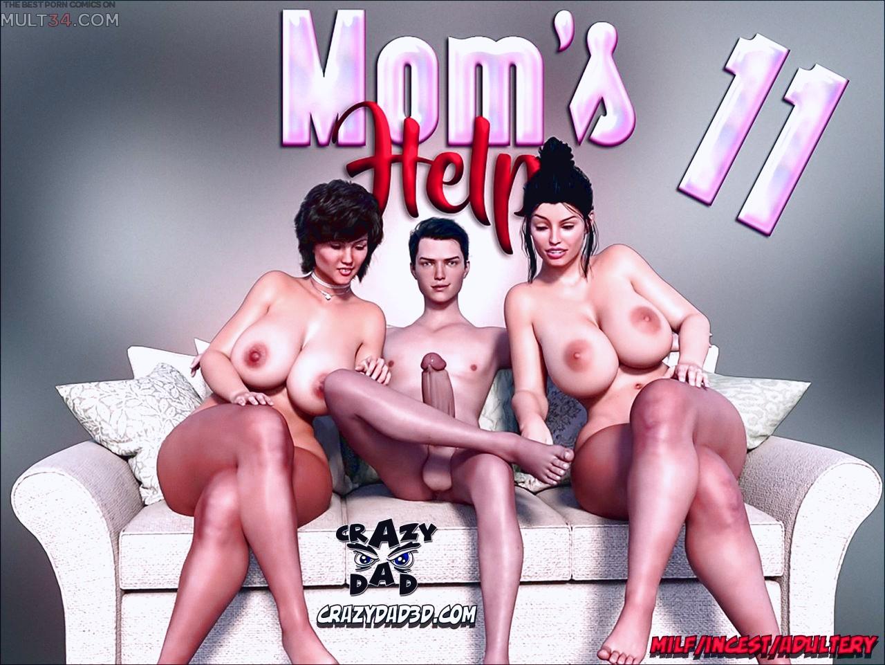 Mom's Help 11 3D porn comic page 1