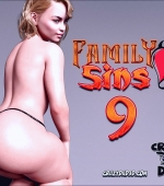 Family Sins 9 3D porn comic page 1